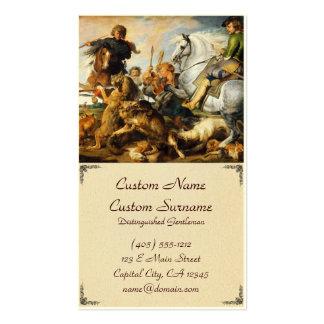 Obra-prima de Peter Paul Rubens da caça do lobo e  Modelo Cartão De Visita