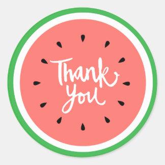 obrigado a melancia handlettering branca adesivo