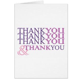 Obrigado agradece-lhe cartões de agradecimentos no