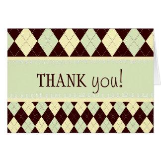 Obrigado amarelo verde neutro de Argyle você Cartão De Nota