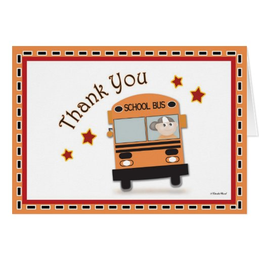 Obrigado ao condutor de autocarro cartões