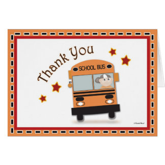 Obrigado ao condutor de autocarro cartão comemorativo