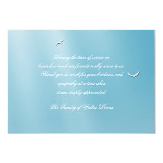 Obrigado azul do falecimento do céu você Notecard Convite 8.89 X 12.7cm