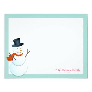 Obrigado azul do feriado do Pólo Norte amigável do Convite 10.79 X 13.97cm