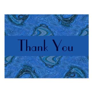 obrigado azul do teste padrão você cartão postal