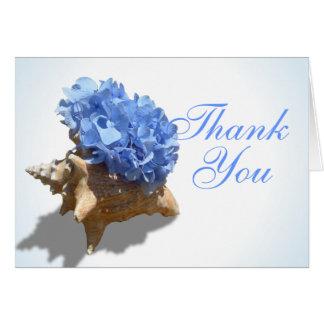 Obrigado azul dos Hydrangeas do litoral você Cartão De Nota