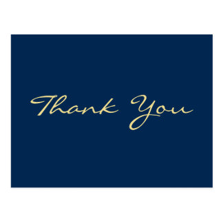 Obrigado azul personalizado da graduação você cartão postal