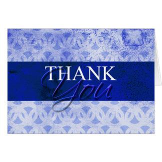 Obrigado azul você cartões