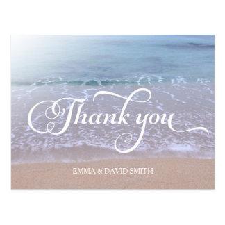 Obrigado bonito do casamento de praia você cartoes postais