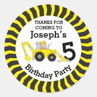 Obrigado caçoa a etiqueta do aniversário da adesivo