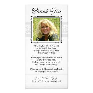 Obrigado cartão com fotos branco & cinzento
