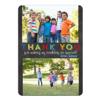 Obrigado cartão com fotos feito sob encomenda