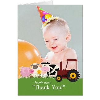 Obrigado cartão da fazenda da foto