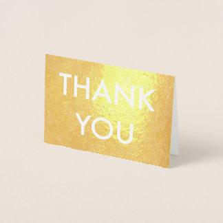 obrigado cartão da folha de prata de folha de ouro