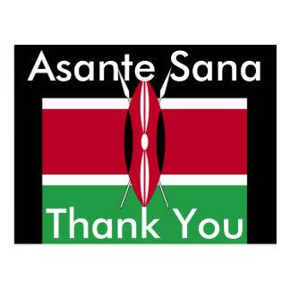 Obrigado cartão de Kenya Cartão Postal