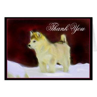 Obrigado cartão do Malamute do Alasca