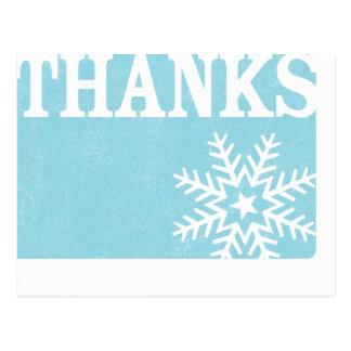 Obrigado cartão do Natal do floco de neve do vinta Cartão Postal