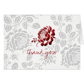 Obrigado cartões de nota