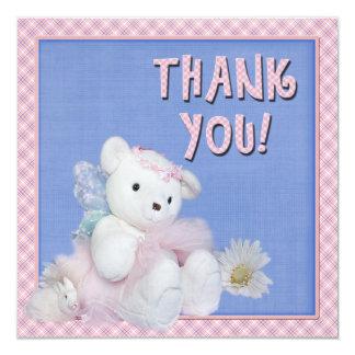 Obrigado cartões de presente do bebê convite quadrado 13.35 x 13.35cm