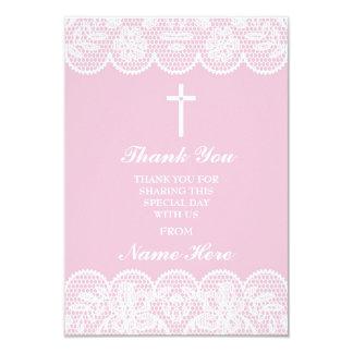 Obrigado cartões santamente florais da cruz
