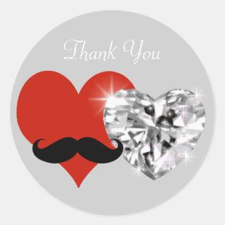 obrigado - casamento adesivo