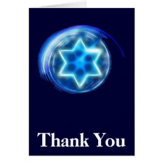 Obrigado cercado estrela você cartao