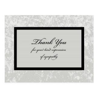 Obrigado cinzento clássico da simpatia você cartão cartão postal