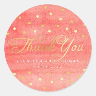 Obrigado cor-de-rosa do casamento da textura da adesivo