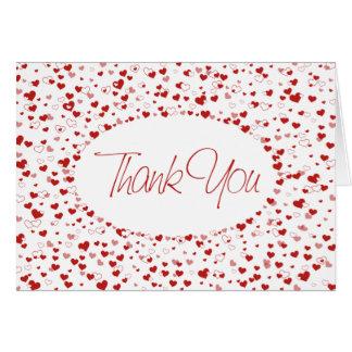 Obrigado • Corações de flutuação Cartão De Nota