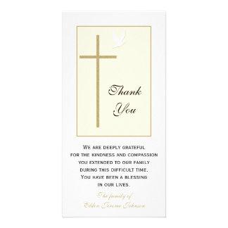 Obrigado cristão da simpatia você cartão com fotos cartão com foto