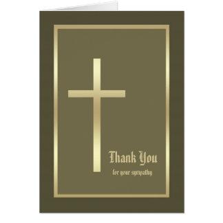 Obrigado cristão da simpatia você cartão de nota