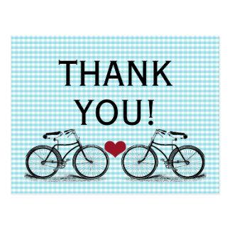Obrigado da bicicleta do vintage você cartão do