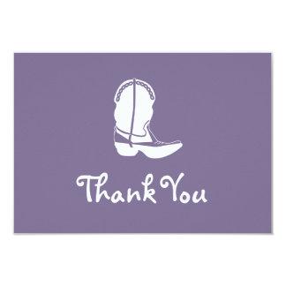 Obrigado da bota de vaqueiro você cartões de nota