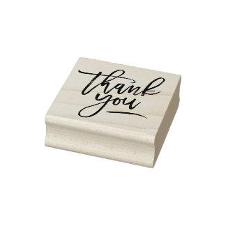 Obrigado da caligrafia você carimbo de borracha