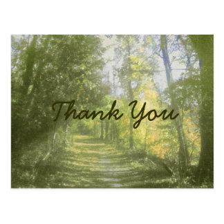 Obrigado da cena da natureza você cartão cartão postal