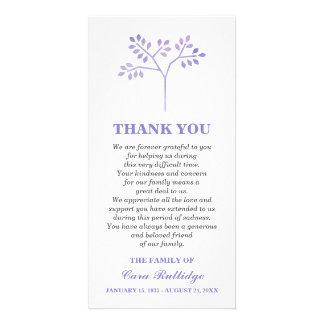 Obrigado da cerimonia comemorativa da árvore da cartão com foto