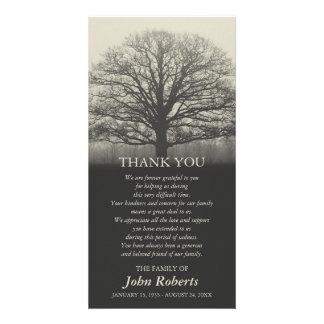 Obrigado da cerimonia comemorativa da silhueta da cartão com foto