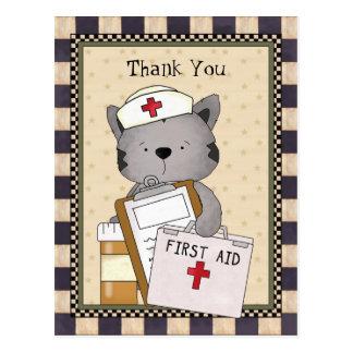 Obrigado da enfermeira do gato você cartão
