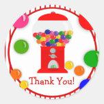Obrigado da festa de aniversário da máquina de Gum Adesivo Redondo