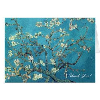 Obrigado da flor da amêndoa de Van Gogh você Cartão Comemorativo