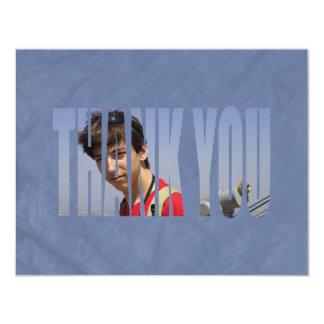 Obrigado da foto de Mitzvah do bar você Card2 no Convite 10.79 X 13.97cm