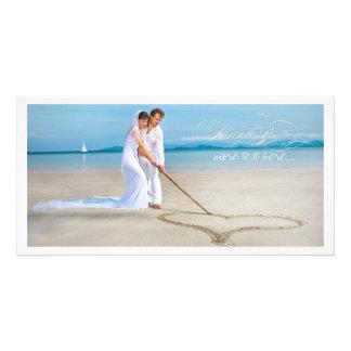 Obrigado da foto do casamento de PixDezines você Cartão Com Foto