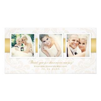 Obrigado da foto do casamento você carda   três cartão com foto