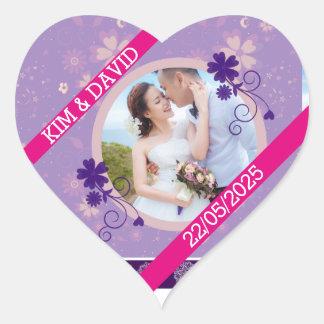 Obrigado da foto do casamento você coração das adesivo coração