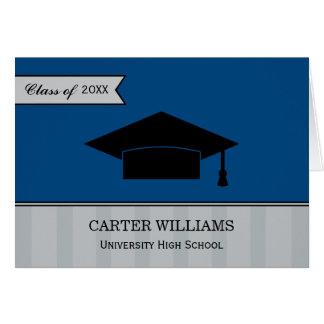 Obrigado da graduação você cinzas de azuis marinho cartão de nota