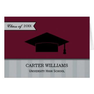 Obrigado da graduação você vermelho marrom dos car cartão de nota