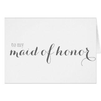 Obrigado da madrinha de casamento você cartão de nota