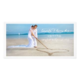 Obrigado da pia batismal da foto DIY do casamento Cartão Com Foto