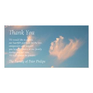 Obrigado da simpatia da nuvem 2 da cara você cartão com foto