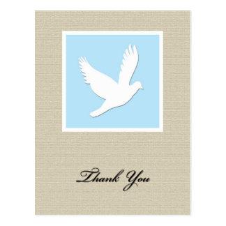 Obrigado da simpatia da pomba você cartão cartão postal